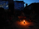 Kerosene lights. Bangalore slums